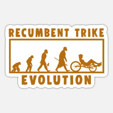 Freestyle Ligfiets Trike Evolution Fietsfiets cadeau - Sticker
