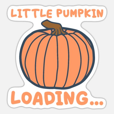 Kürbis Little Pumpkin Loading Kürbis Halloween - Sticker