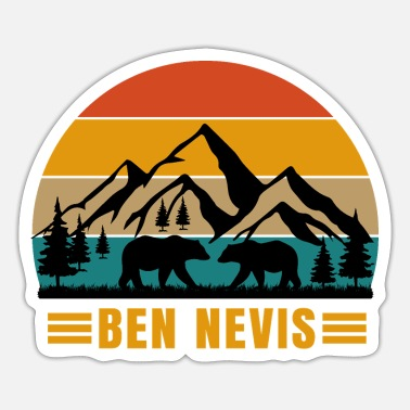 Alps Mountains ben nevis - Sticker