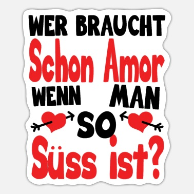 Romantisch Herz Valentinstag Statement - Sticker