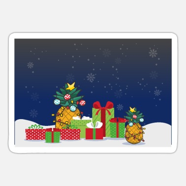 Slip Pineapple Christmas Tree And Gifts for Pineapple - Sticker