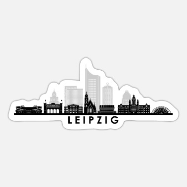 Panorama LEIPZIG Saksen Duitsland Skyline City - Sticker