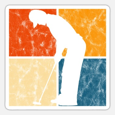Ball Golfing Retro Golfer Golfer Golf Golf Club - Sticker