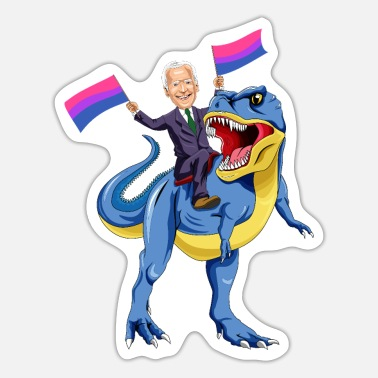 Communication LGBTQ - Bisexual Flag Color - Biden - Sticker