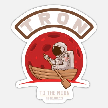 Occupy TRON TRX - TO THE MOON - Cryptocurrency - Sticker