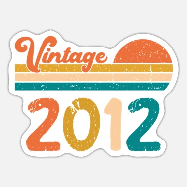 50s Vintage 2012 Limited Edition Birthday gifts - Sticker