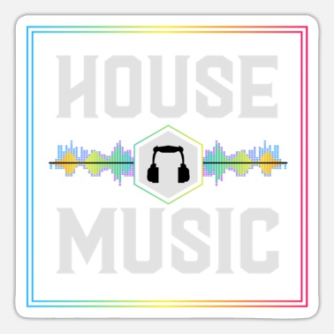 Hardstyle House music, House music Party, Rave, - Sticker