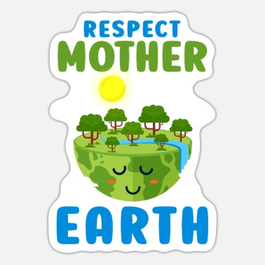 Global RESPECTEER MOEDER AARDE - Sticker