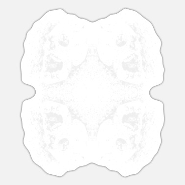 Haunting Four Skull Clover of Death - Sticker