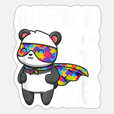 Super Power Panda Bunt Autismus Anders sein Super Power - Sticker