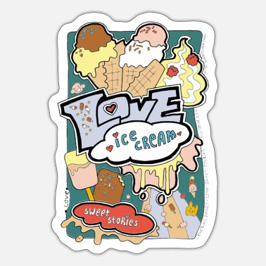 Best Of Love sweets. Funny cute Icecream. LSS 4 - Sticker