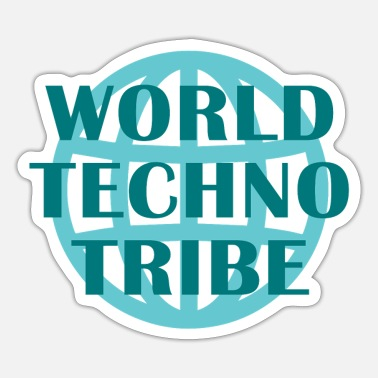 Chor World techno tribe Music Geschenk Raving Konzert - Sticker
