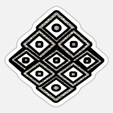 Octagon Black square - Sticker