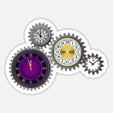 Clock Cool Clocks, Clocks, Clocks Hoodies, Clocks, cogs - Sticker