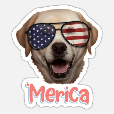 Independence Merica Labrador Lover 4th Of July Gift - Sticker