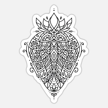 Tatoo Erdbeere Tattoo Mandala Ethno Ornament - Sticker