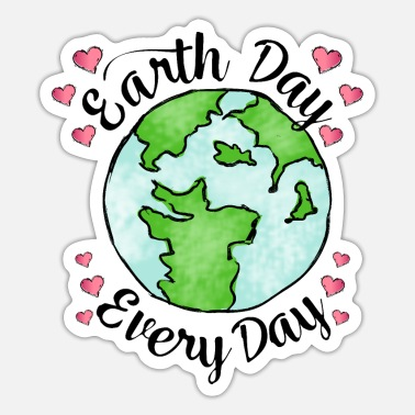 Bloom Earth Day Every Day Global Warming Climate Wall - Sticker
