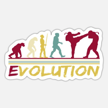 Schatten Muay Thai Boxing Thaiboxen Evolution Retro - Sticker