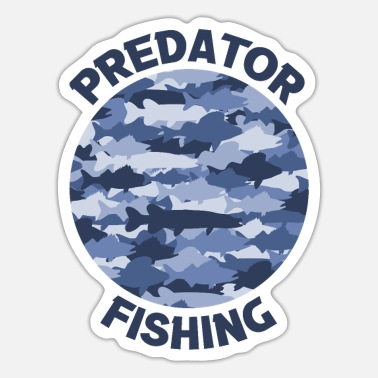 Freshwater Predator fishing - Predator Fishing Blue - Sticker