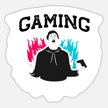 Video Gaming Is Not A Crime Funny Gaming - Sticker