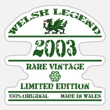 Dragons A Welsh Legend 2003 - Sticker