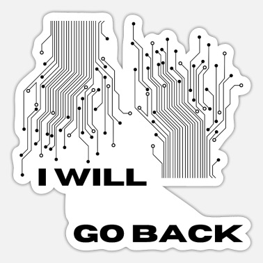 Replik i will go back - Sticker