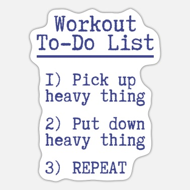 Workout Workout to do lijst Fitness Gift Gym Sport - Sticker
