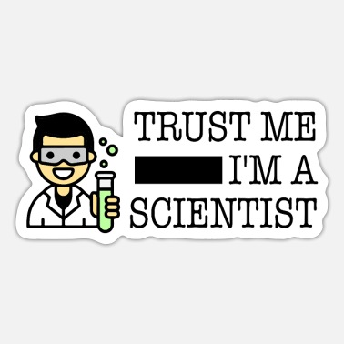 Trust me I'm a scientist male Asian - Sticker