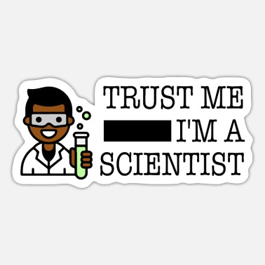 Trust me I'm a scientist male black - Sticker