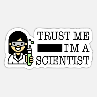 Trust me I'm a scientist female Asian - Sticker