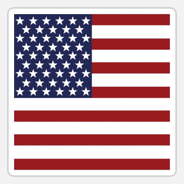 Stars And Stripes USA Flag - Independence Day Gift - Sticker