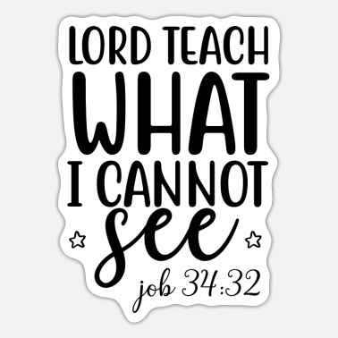 Bro lord teach what i cannot see 01 - Sticker