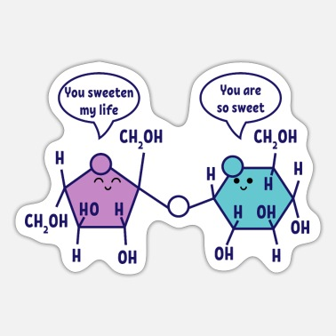 Chemie You are so sweet Chemie Chemiker Wissenschaft - Sticker