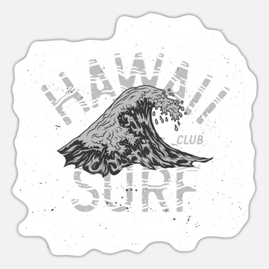 Surfing Hawaii Surf Club Surfing Surfer Waves - Sticker