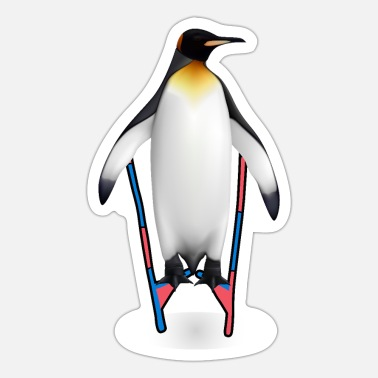 Pile Penguin On Circus Stilts Circus Lover - Sticker