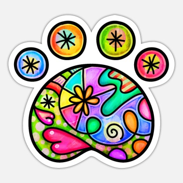 Loyal Folk Art Paw Print - Sticker