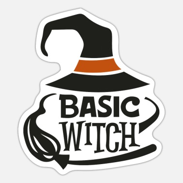 Escoba De Brujas Basic Witch - Pegatina