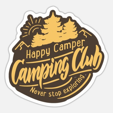 Caravan Summer Camping Explore More Camper Fun - Sticker