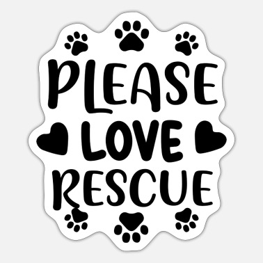 Animal Rescue Please love rescue 01 - Sticker