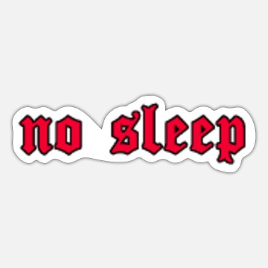 Teen No Sleep Soft Grunge Aesthetic Goth Geschenk - Sticker