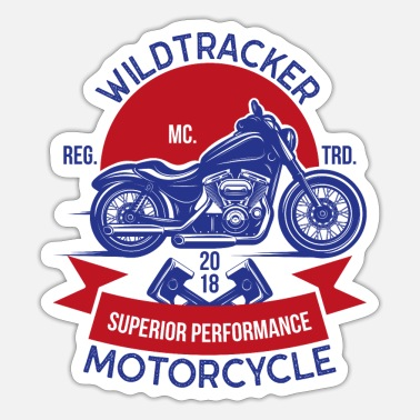 Machine Wildtracker superieure prestaties motorfiets fiets - Sticker