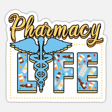 Pharmacist Pharmaceutical Medicine Funny Profession - Sticker