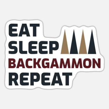 Funny Saying Backgammon Player Board Game Funny Sayings Gift - Sticker