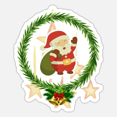 Santa Merry Christmas | Gift for Christmas | Family - Sticker