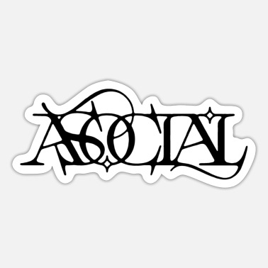 asociale - Sticker