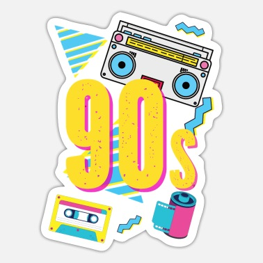 Neunziger 90er retro Radio - Sticker