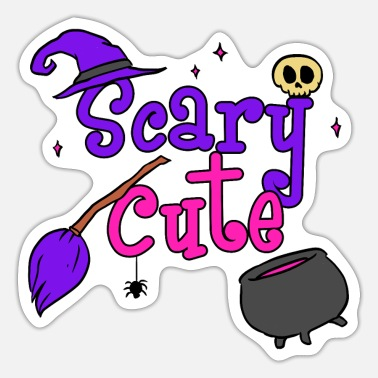 Halloween Halloween Hexe Statement Schaurig Skelett - Sticker