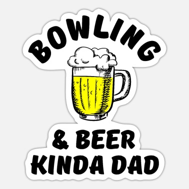 Gutter Bowling & beer kinda dad - Sticker