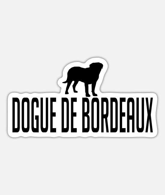 De Stickers - DOGUE DE BORDEAUX dog - Sticker white mat