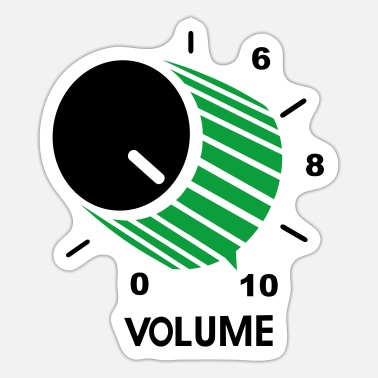 Volume VOLUME CONTROL POT - Sticker